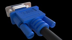 vga connector 3D model