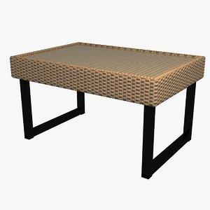 realistic ikea solleron coffee table model