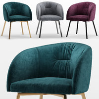 Upholstered metal swivelling chair Rosie soft - calligaris connubia