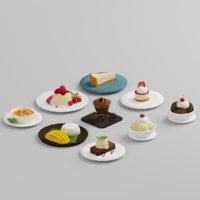 dessert food icecream model