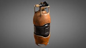 worn sci-fi gas tank 3D model