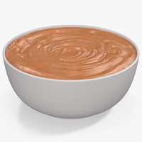 3D peanut butter plate