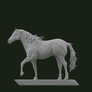 horse statue model