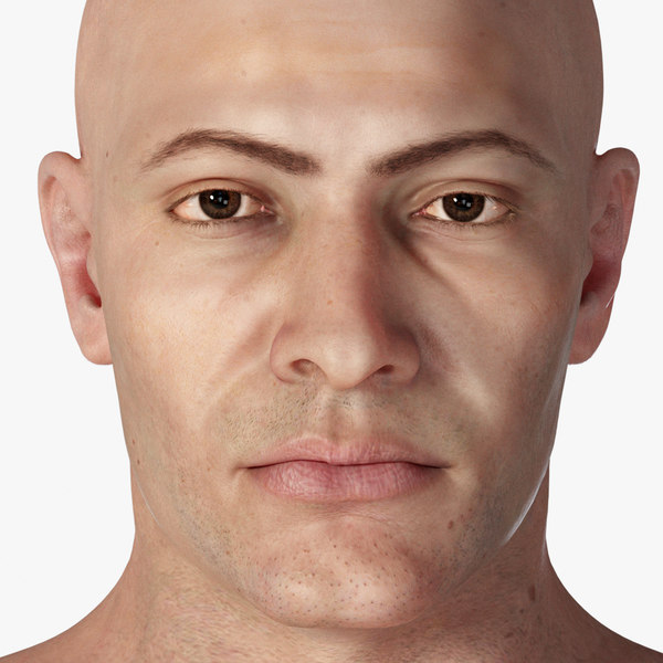 3D photorealistic rigged male character model