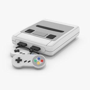 3D classic 16bit console model