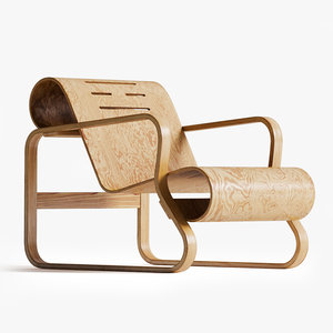 alvar aalto paimio chair 3D model