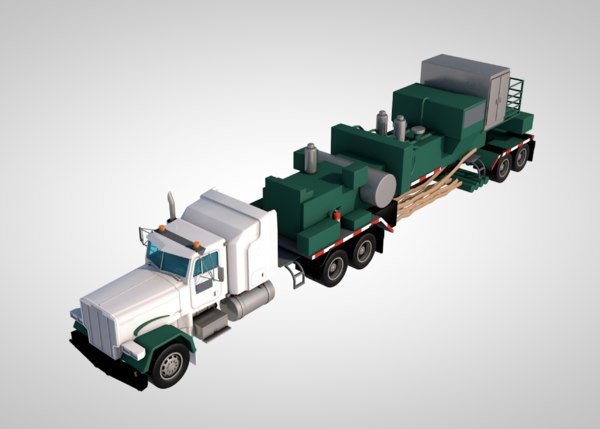 truck trailer car vehicle 3D