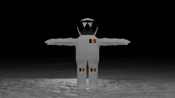 3D low-poly astronaut character