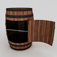 cask cabinet 3D