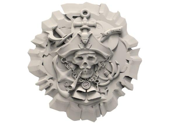 3D face pirate