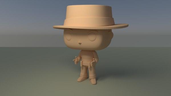 custom cowboy figure print 3D model