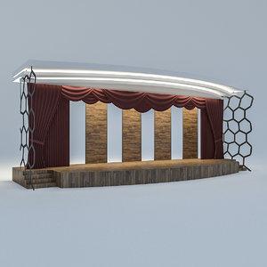 3D model theater scene