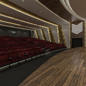 theater hall concept 3D model