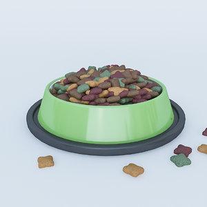 food dog cat 3D model