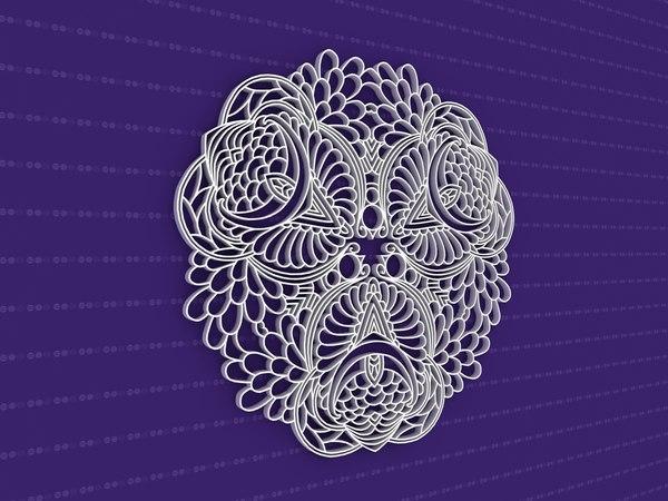 3D mandala cnc model