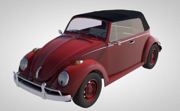 3D vintage automobile auto vehicle