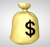 money bag currency 3D model
