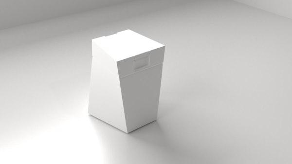 3D model plastic bottle 9 shampoo
