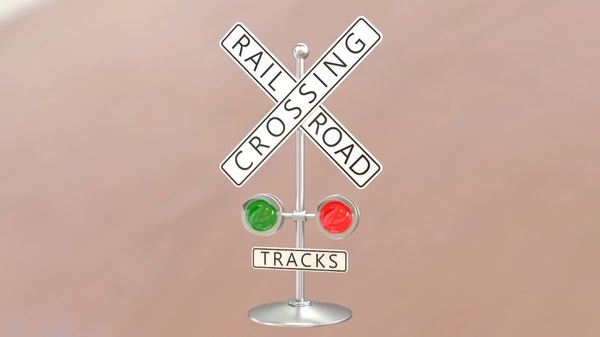 3D rail road crossing decor