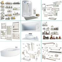 Bathroom Furniture And Accessories Set 3D model