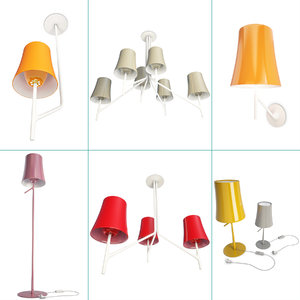 set birdie lighting 3D model