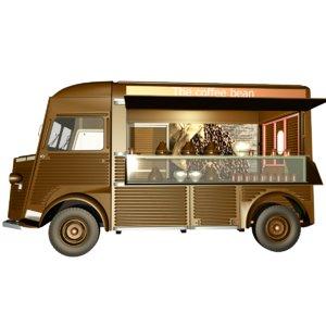 truck citroen coffee bean 3D