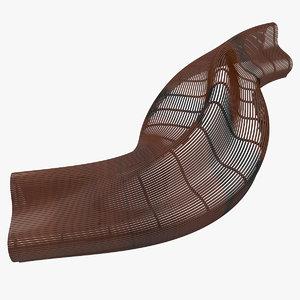 designed bench 3D model