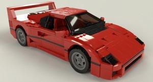 lego sports car 3D model