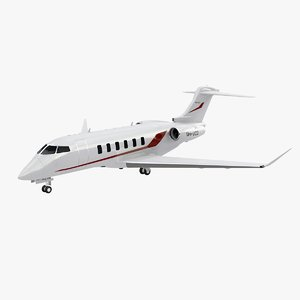 business jet challenger 350 3D