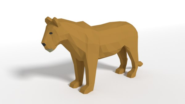 famale lion 3D