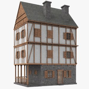 real medieval house 3D model