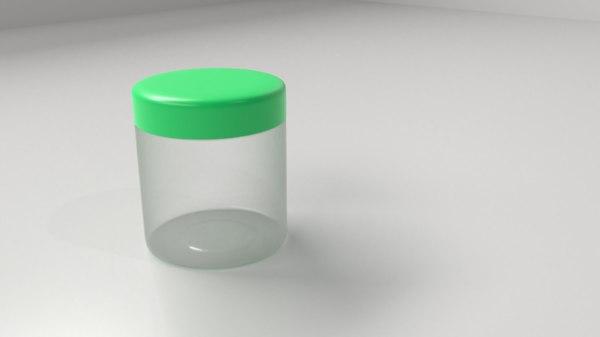 3D cream container 4