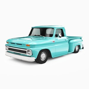 3D model chevrolet c10 1965