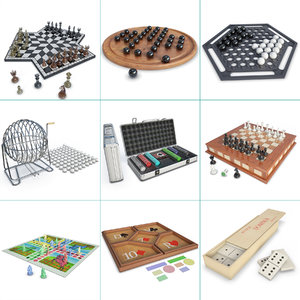 games set board chess 3D model