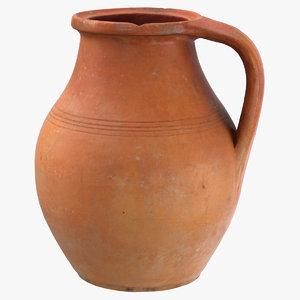 clay pot 05 3D model