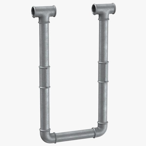 3D galvanized steel pipe letter