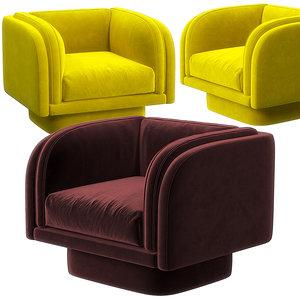 3D harvey swivel chair