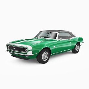 3D chevrolet camaro ss 1968 model