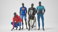 Male mannequins with clothes RELAXED pack
