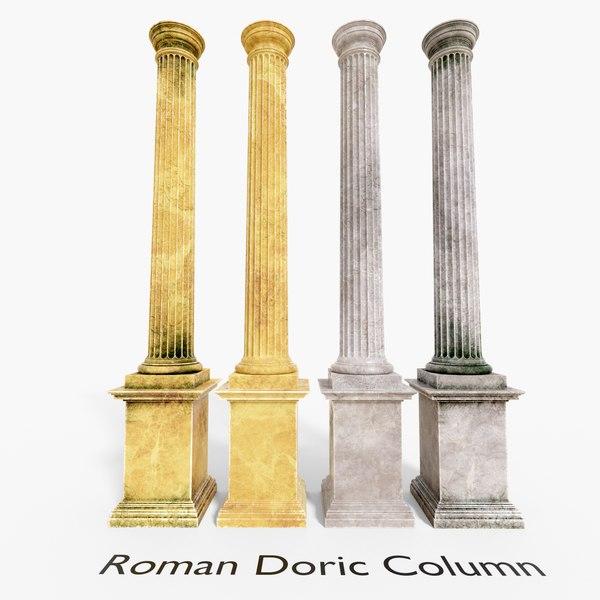 roman doric column 3D model