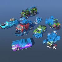cars customizable 3D model