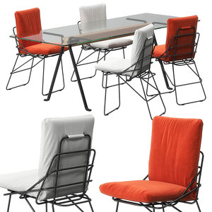sof chair frate table 3D model