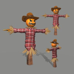 character scarecrow 3D model