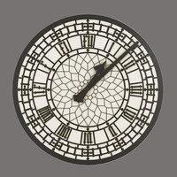 clock decor architectural 3D
