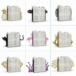 bookends books decorative 3D model