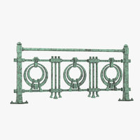railing otto wagner architectural model