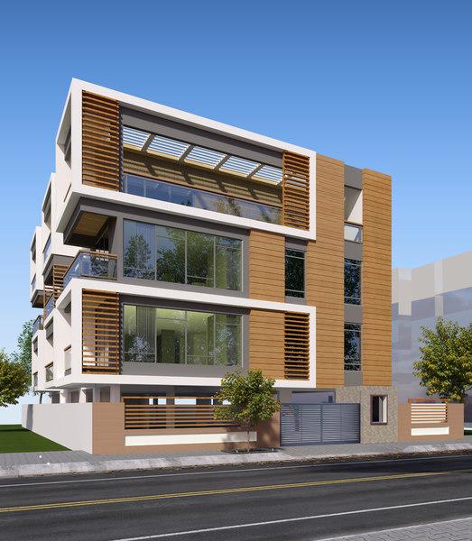 buildings exterior 3D model