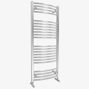 towel rail radiator curved 3D model