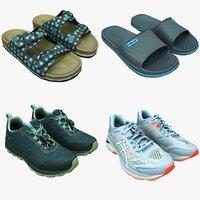 3D model shoes footwear fashion