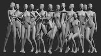 Animated Female Base Mesh - 14 poses